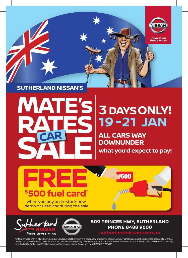 Mates Rates Sale